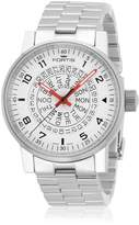 Fortis Men's 623.10.52 M Spacematic Classic -Red Analog Display Automatic Self Wind Silver Watch