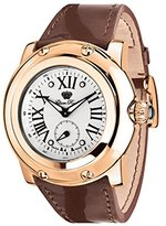 Glam Rock Women's Miami 46mm Brown Leather Band Rose Gold Plated Case Swiss Quartz Analog Watch GR10042N