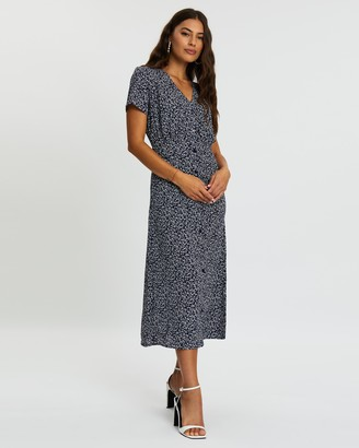 Missguided Floral Button-Down Midi Dress