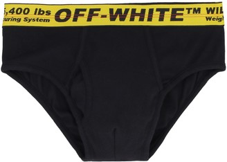 Off-White Logoed Elastic Band Cotton Briefs