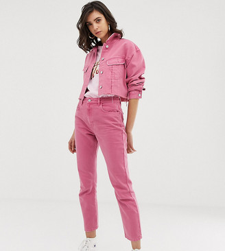 Reclaimed Vintage The '95 straight leg jean in rose pink wash
