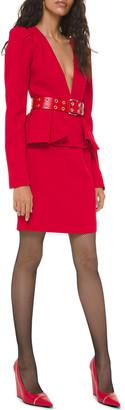 Michael Kors Sable Crepe Peplum Cocktail Dress