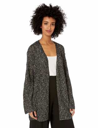 Chaus Women's Long Sleeve Pointelle Novelty Cardigan