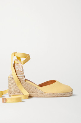 Castaner Net Sustain Carina 60 Canvas Wedge Espadrilles - Yellow