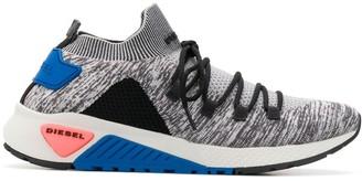 Diesel Low Top Knit Upper Sneakers