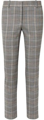 Theory Prince Of Wales Checked Wool-blend Straight-leg Pants