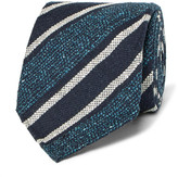 Dunhill 8cm Striped Mulberry Silk-Blend Tie