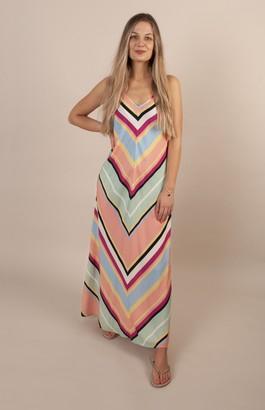 Nooki Design - Rainbow Stripe Bias Dress - S