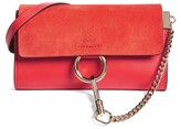 Chloé Women's Mini Faye Suede & Leather Wallet On A Chain - Red