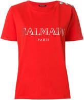 Balmain button-embellished T-shirt