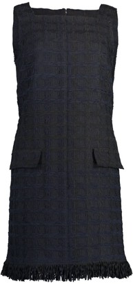 Oscar de la Renta Sleeveless Square Neck Shift Dress