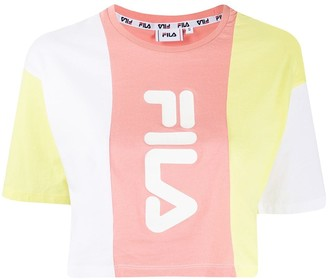 Fila cropped panelled T-shirt
