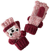 John Lewis Children's Novelty Bear Flip Gloves, Brown