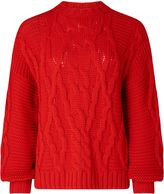Miss Selfridge Red Cable Jumper