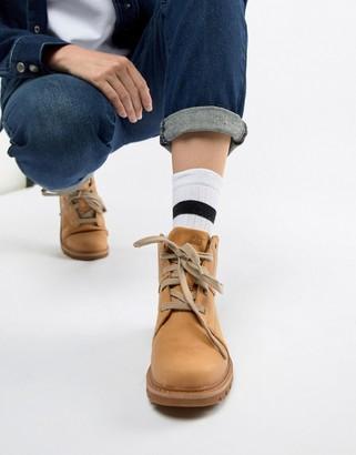 CAT Footwear Caterpillar Faux Fur Lined Boots-Tan