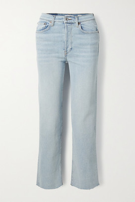 RE/DONE Originals Stove Pipe Comfort Stretch High-rise Straight-leg Jeans - Light denim
