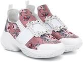Roger Vivier Viv' Run floral leather sneakers