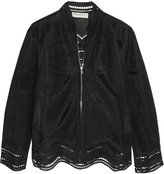 Emilio Pucci Broderie anglaise-paneled tulle jacket