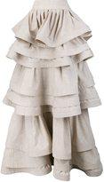 Rosie Assoulin three layer ruffle skirt