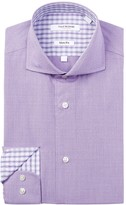 Isaac Mizrahi Dot Gingham Slim Fit Dress Shirt