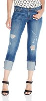 Hudson Women's Muse Crop 5 Pocket Skinny Jeans with 5 inch Cuff and Distress