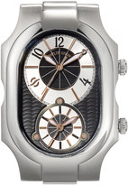 Philip Stein Teslar Large Signature Watch Head, Silver/Black