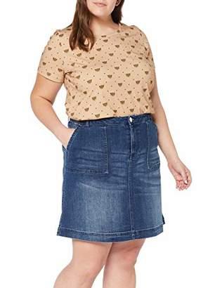 Junarose Women's Jrfive Molly Mb Above Knee Skirt - K Medium Blue Denim, (Size: 52)