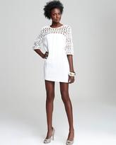 Three-Quarter Sleeve Crochet Shoulder Dress