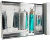 Perry Ellis 360 Gift Set - 3.4 Oz Eau De Toilette Spray + 3 Oz After Shave Balm + 2.75 Oz Deodorant Stick + .25 Oz Mini Edt Spray For Men