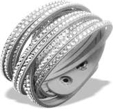 Luna Crystal Slake Bracelet with Beautiful Elements - Solid Silver AB