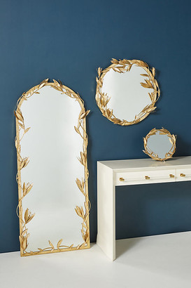 Anthropologie Hannah Mirror By in Gold Size M