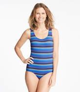 L.L. Bean BeanSport Swimwear, Tank with Soft Cups Stripe