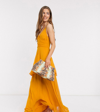 Asos Tall ASOS DESIGN Tall soft layered cami maxi dress in sunflower yellow
