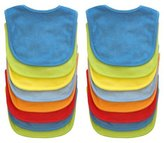 Neat Solutions 16 Pack Multi-Color Solid Knit Terry Feeder Bib, Boy