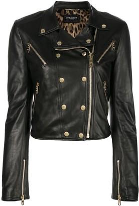 Dolce & Gabbana zipper trimmed biker jacket