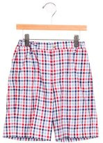 Oscar de la Renta Boys' Plaid Knee-Length Shorts