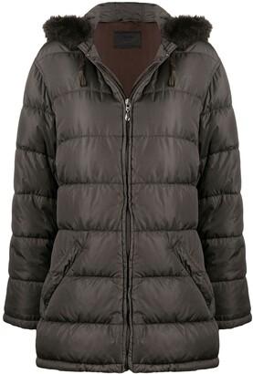 Prada Pre-Owned 1990s Hooded Puffer Coat