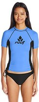 Reef Women's Solids Short Sleeve Rashguard with Tie Side Detail