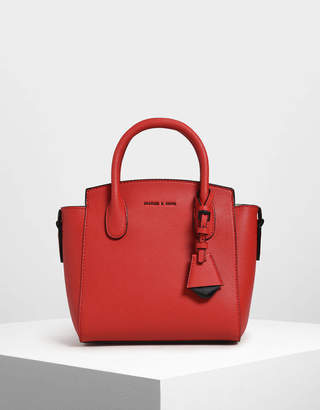 Charles & Keith Classic Double Top Handle Bag