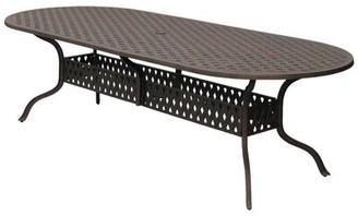 "Mckinney Metal Dining Table Astoria Grand Table Size: 102"" L x 42"" W"