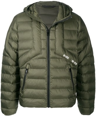 Diesel Quilted Hooded Jacket