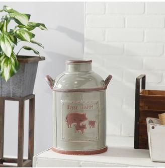 "Willow Row Grey 12"" Ceramic Milk Jug"