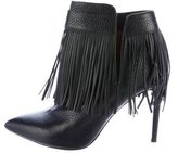 Valentino Fringe Pointed-Toe Booties