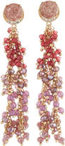 Lydell NYC Multihued Beaded Linear Drop Earrings