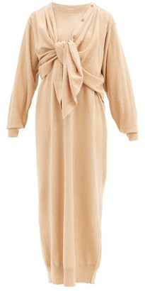 Lemaire Layered Wool-blend Cardigan Dress - Beige