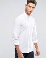 United Colors Of Benetton Linen Mix Shirt In Slim Fit