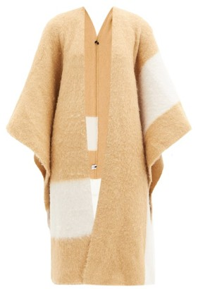 Joseph Striped Felted Alpaca-blend Cape - Camel