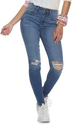 Mudd Juniors' High Rise Destructed Skinny Jeans