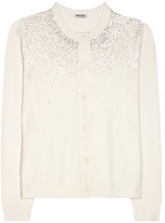 Miu Miu Sequin-embellished wool cardigan