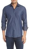 Stone Rose Slim Fit Diamond Jacquard Sport Shirt